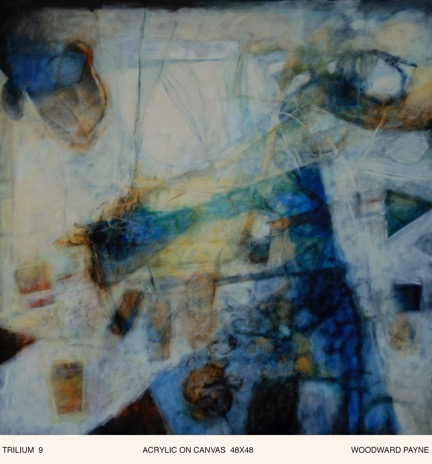 TRILIUM  9 , 48X48 acrylic on canvas